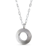 Pareure 360º Series Small and Short Sterling Silver Pendant Necklace