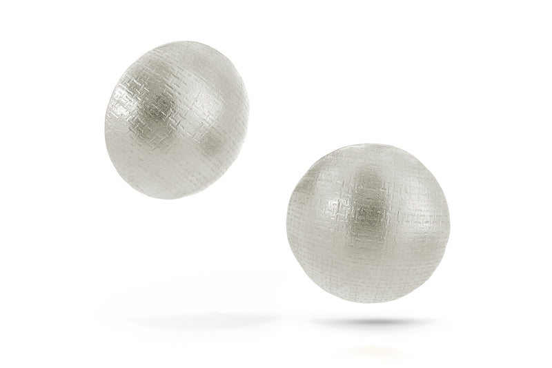 Pareure 360º Series Sterling Silver Small Button Stud Earrings
