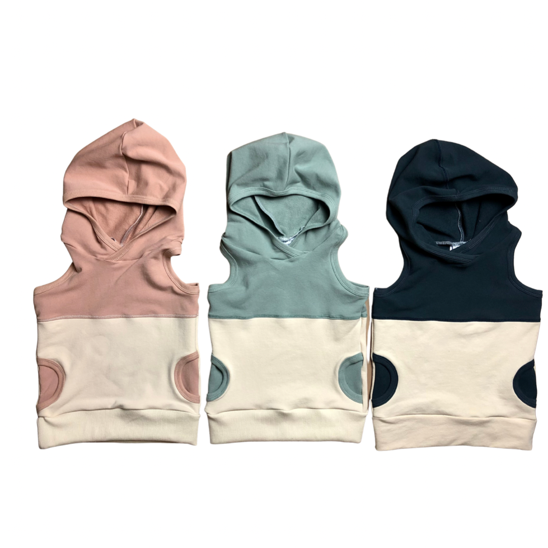 Rose Clay+Oatmeal Hooded Tank
