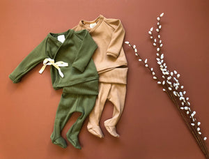 Olive Wrap Top