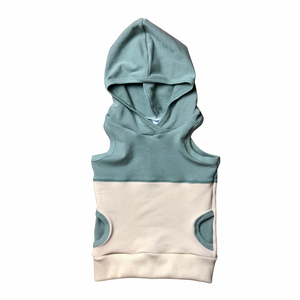 Pistachio+Oatmeal Hooded Tank