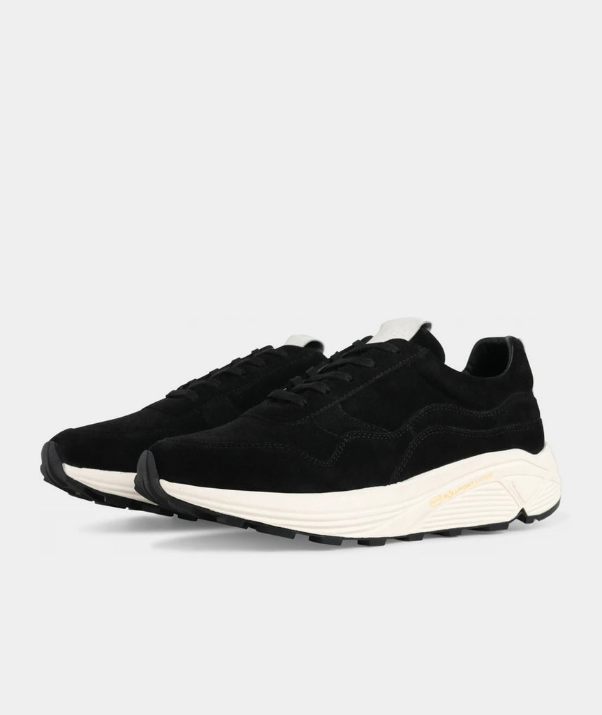 GARMENT PROJECT MAN Bailey Runner - Black Suede / Off White Shoes 999 Black