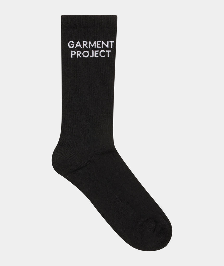 GARMENT PROJECT MAN GP Logo Sock - Black Sock 999 Black
