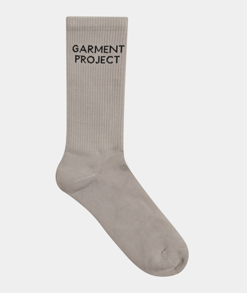 GARMENT PROJECT MAN GP Logo Sock - Grey Sock 400 Grey