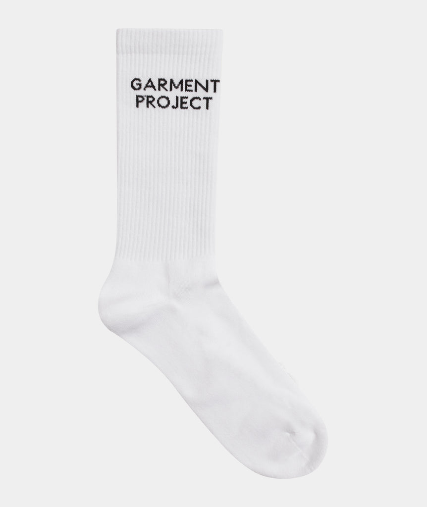 GARMENT PROJECT MAN GP Logo Sock - White Sock 100 White