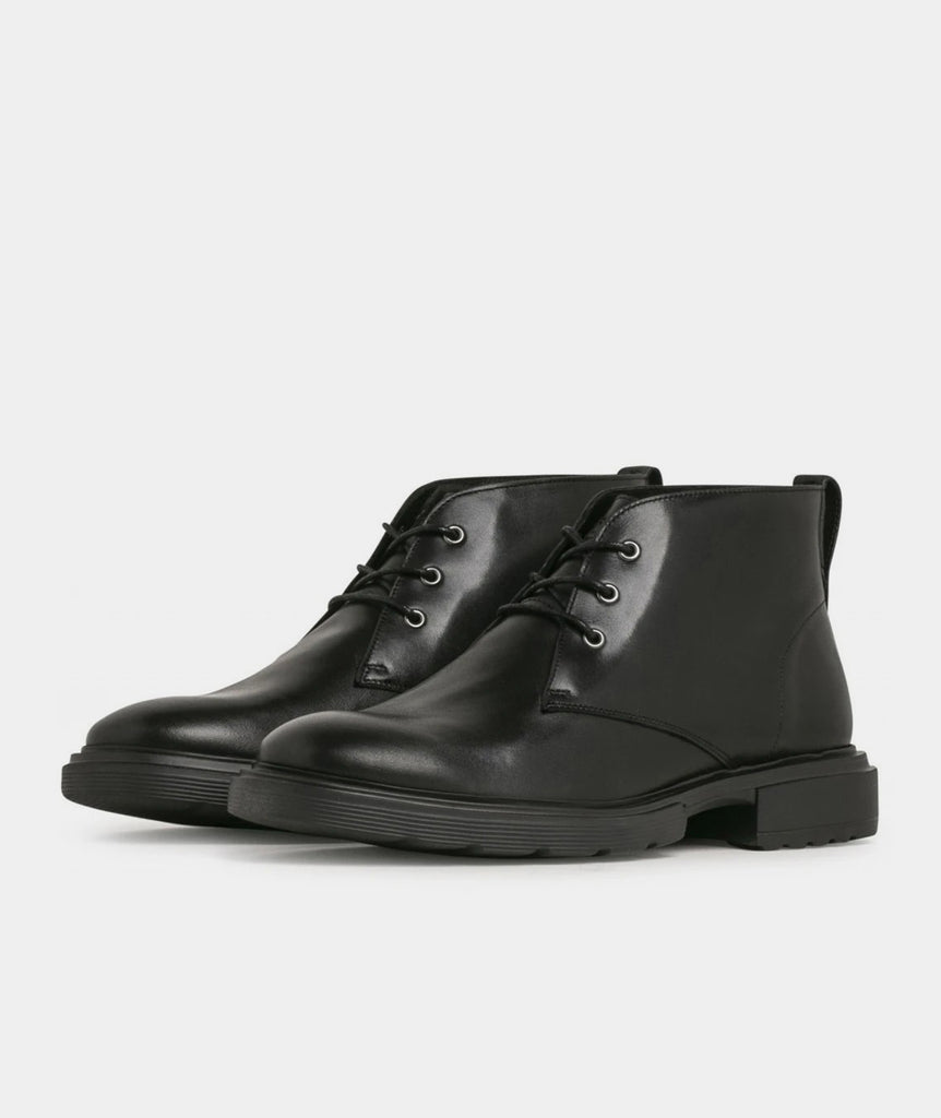 GARMENT PROJECT MAN Willy Desert - Black Leather Boots 999 Black