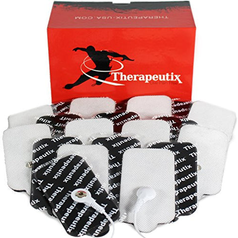 Therapeutix TENS Unit Electronic Massager Snap-On Electrode Pads (20), Large