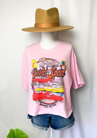 Vintage World Of Speed Cropped Tee