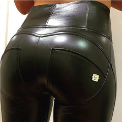 WR.UP® High Waist Eco Leather Black (N)