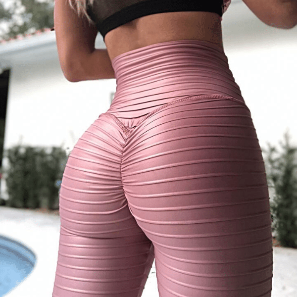 ABS2B - Glossy Leggings (Rose Gold)