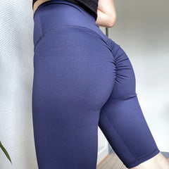ABS2B - Scrunch Bike Shorts (Navy)