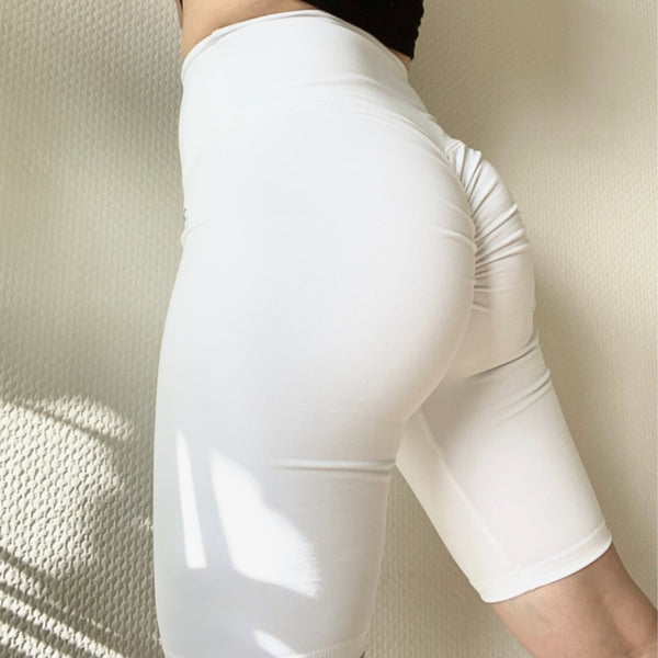 ABS2B - Scrunch Bike Shorts (White)