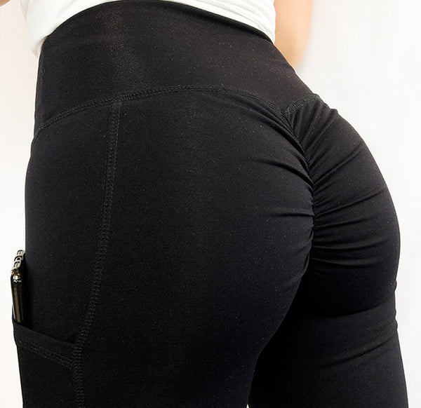 ABS2B - High Waist Pocket Leggings (Black)