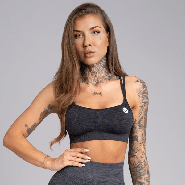 Gym Glamour - Alva Seamless Sportsbra (Dark Blue)