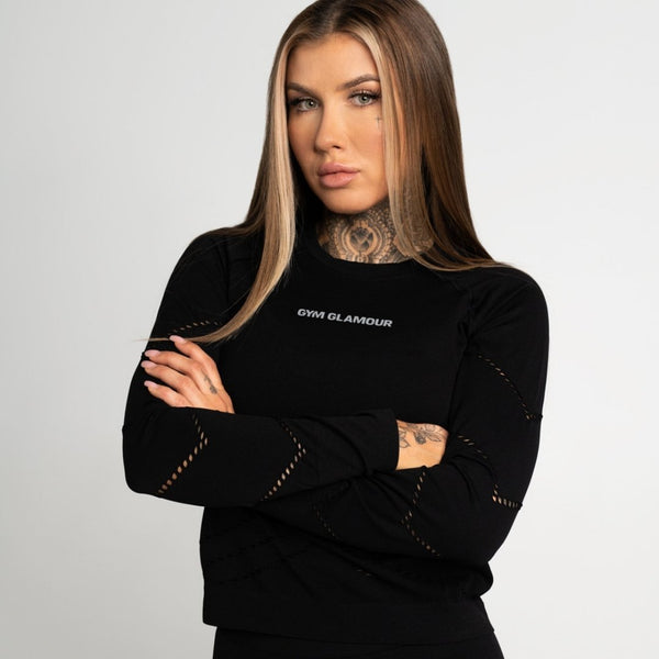 Gym Glamour - Alexa Sweatshirt (Black)