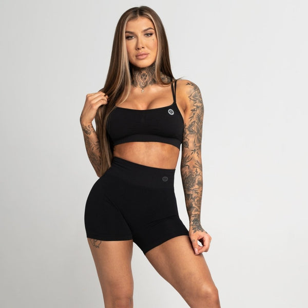 Gym Glamour - Amy Seamless Shorts (Black)