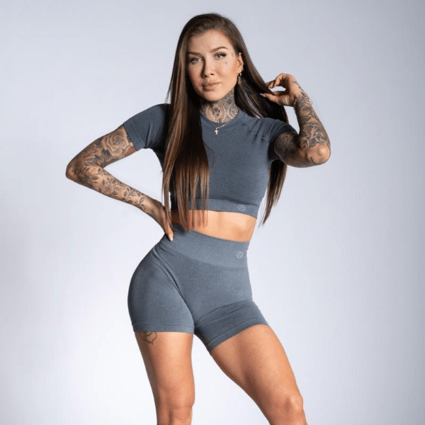 Gym Glamour - Amy Seamless Shorts (Grey)