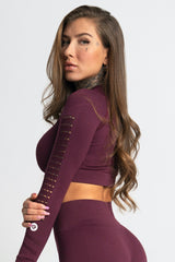 Gym Glamour - Criss Seamless Crop Top (Bordeaux)