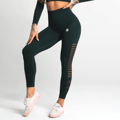 Gym Glamour - Criss Seamless Leggings (Evergreen)