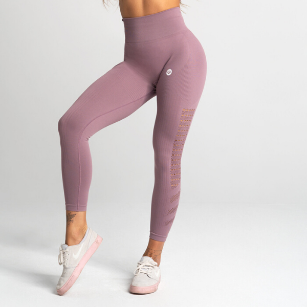 Gym Glamour - Criss Seamless Leggings (Purple)