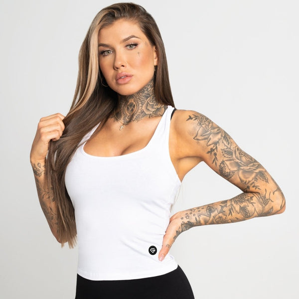 Gym Glamour - Elena Top (White)