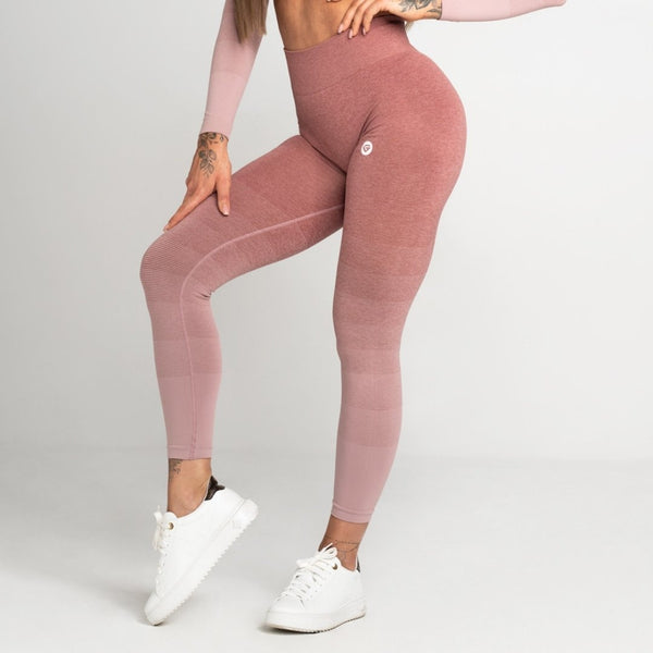 Gym Glamour - Ombre Leggings (Rose)