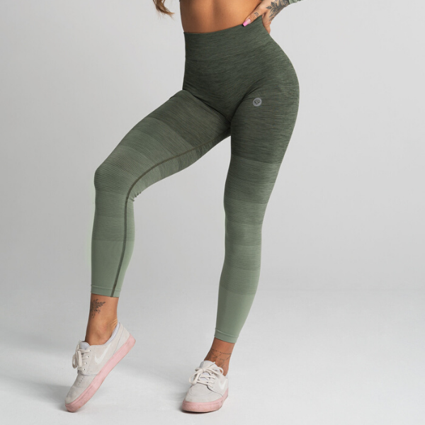 Gym Glamour - Ombre Leggings (Khaki)