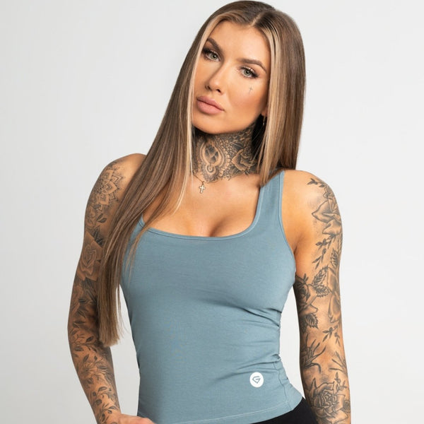 Gym Glamour - Elena Top (Blue)