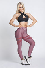 Gym Glamour - Mesh Leggings (Dusty Pink)