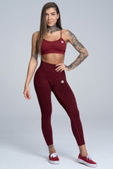 Gym Glamour - Alva Seamless Leggings (Red Melange)