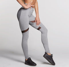 Gym Glamour - High Waist Heart Leggings (Grey)