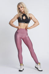 Gym Glamour - High Waist Leggings (Dusty Pink)