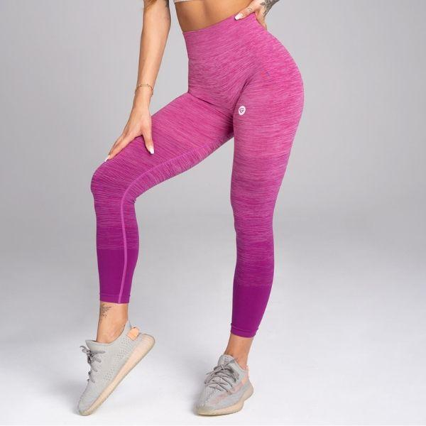 Gym Glamour - Eve Seamless Leggings (Purple/Pink)