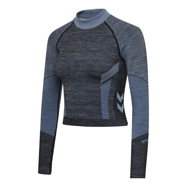 Hummel® - Sky Seamless Crop Top (Blue/Grey)