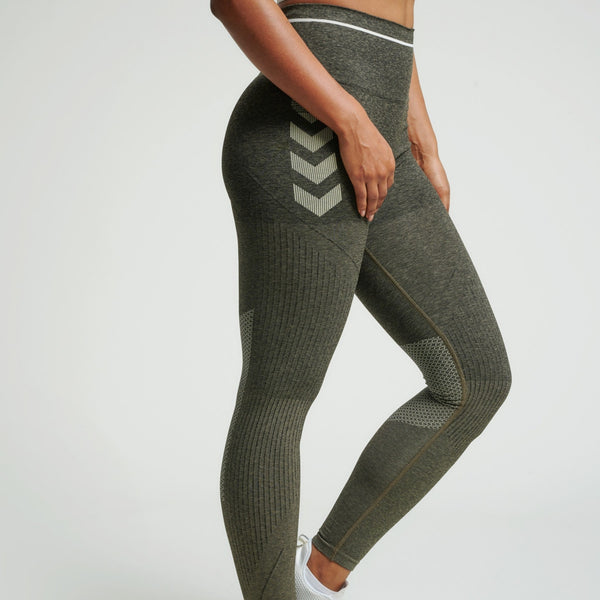 Hummel® - Hana Seamless Leggings (Green Melange)