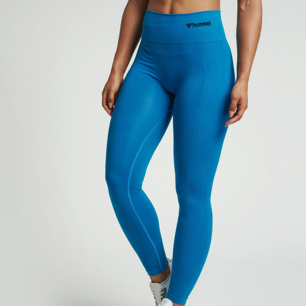 Hummel® - TIF High Waist Seamless Leggings (Blue)