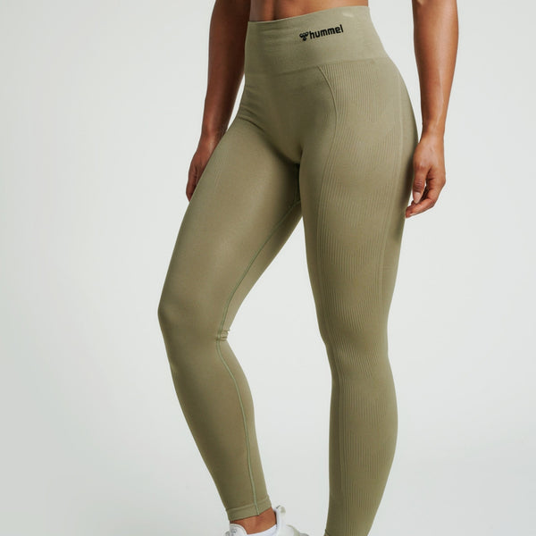 Hummel® - TIF High Waist Seamless Leggings (Khaki)