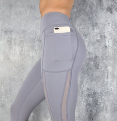 RapidWear - Power Mesh Leggings (Lavender)