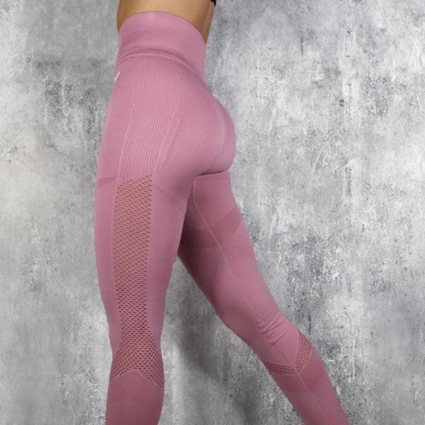 RapidWear - Seamless Support Leggings (Faded Pink)