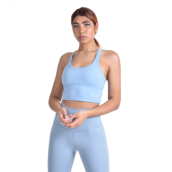 RapidWear - Padded Crop Top (Light Blue)