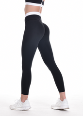 RapidWear - Two Toned Scrunch Leggings (Black)