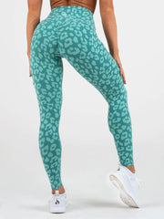 Ryderwear - Leopard Scrunch Leggings (Mint)