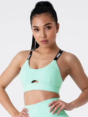 Ryderwear - Pastel Scrunch Sports Bra (Mint)