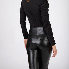 WR.UP® High Waist Eco Leather Flare Black (N)