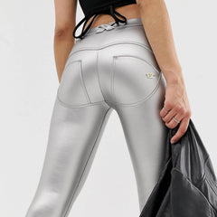 WR.UP® Regular Waist Eco Leather Silver (S)