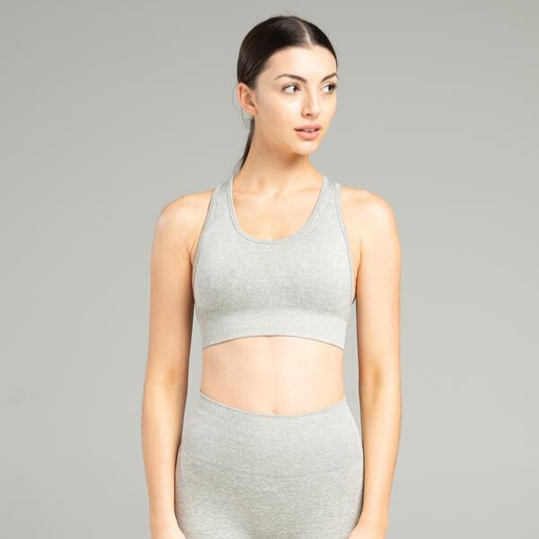 WearWolf - Power Seamless Sportsbra (Light Grey)