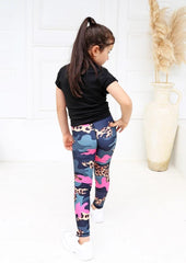 Xahara - Junior Camo Leggings (Grey/Pink)