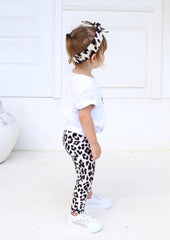 Xahara - Junior Snow Leopard Leggings (White)