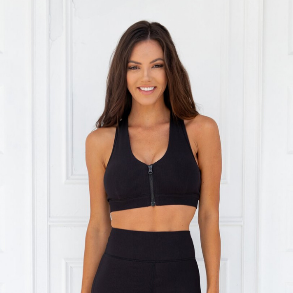 Xahara - Knockout Ribbed Sportsbra (Black)