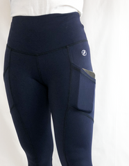 ABS2B - High Waist Pocket Leggings (Navy)